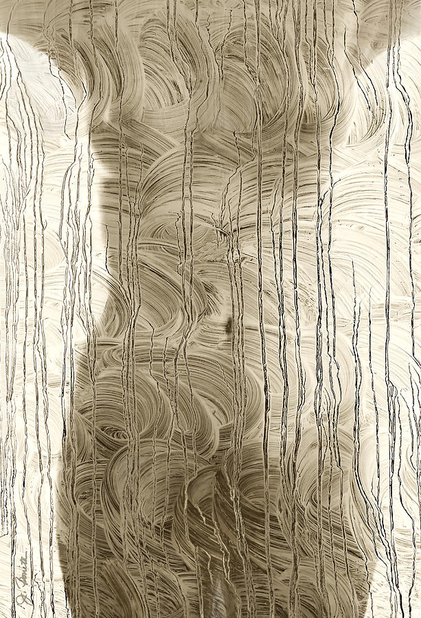 Nude Photograph - Nude Behind Soaped Window by Joe Bonita