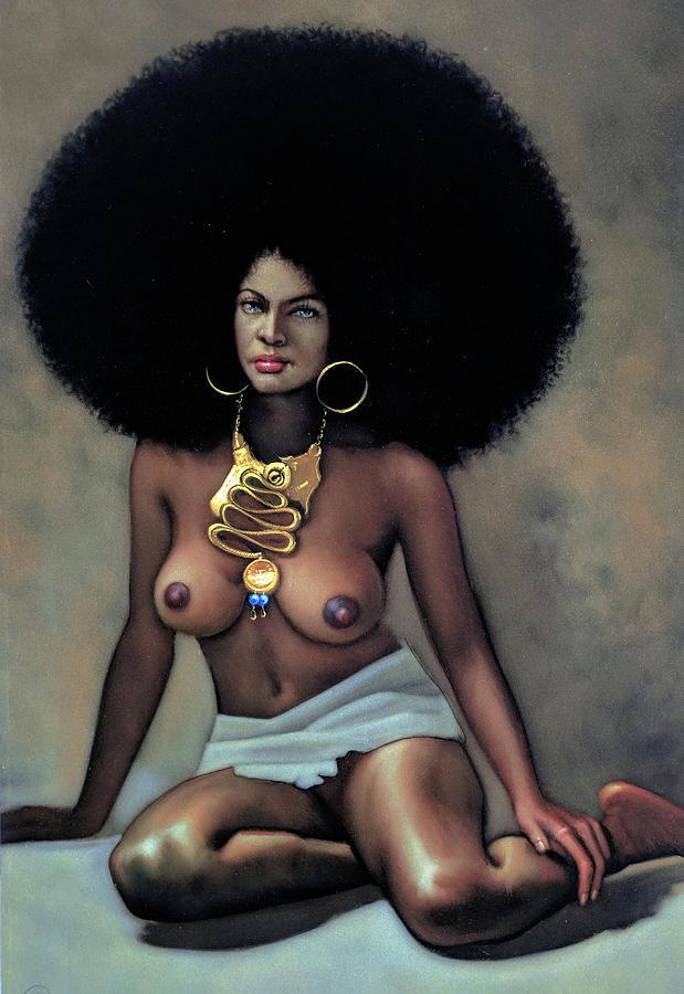 Nude black afro women 7