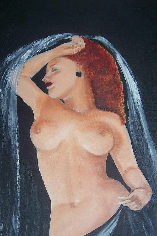 Nude Painting - Nude Bride by Martha Mullins