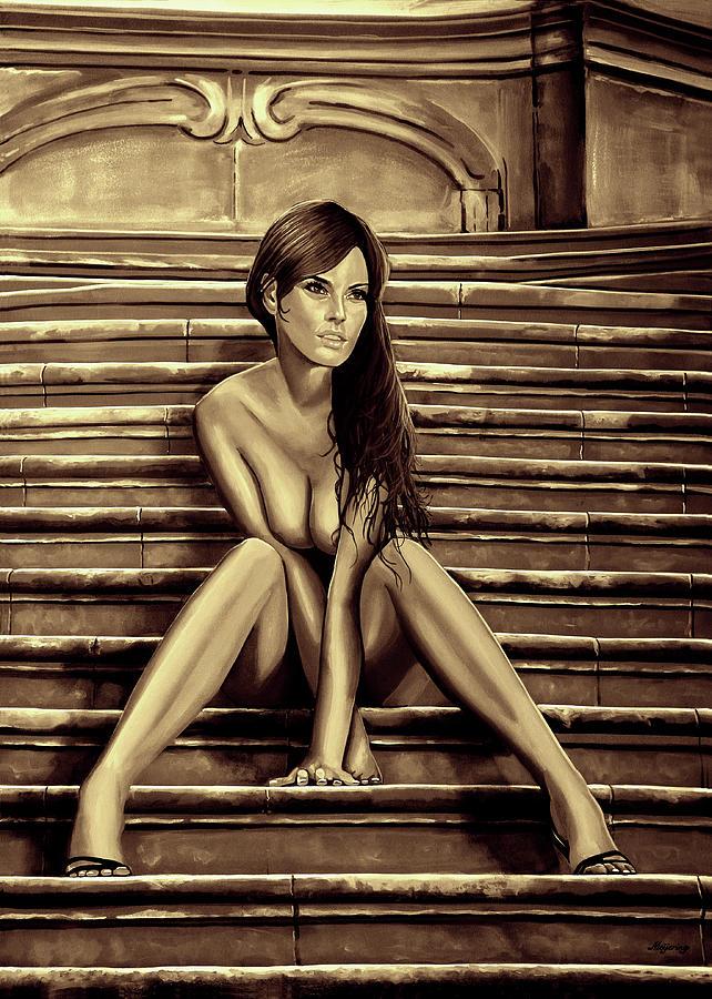 Nude Woman Mixed Media - Nude City Beauty Sepia by Paul Meijering