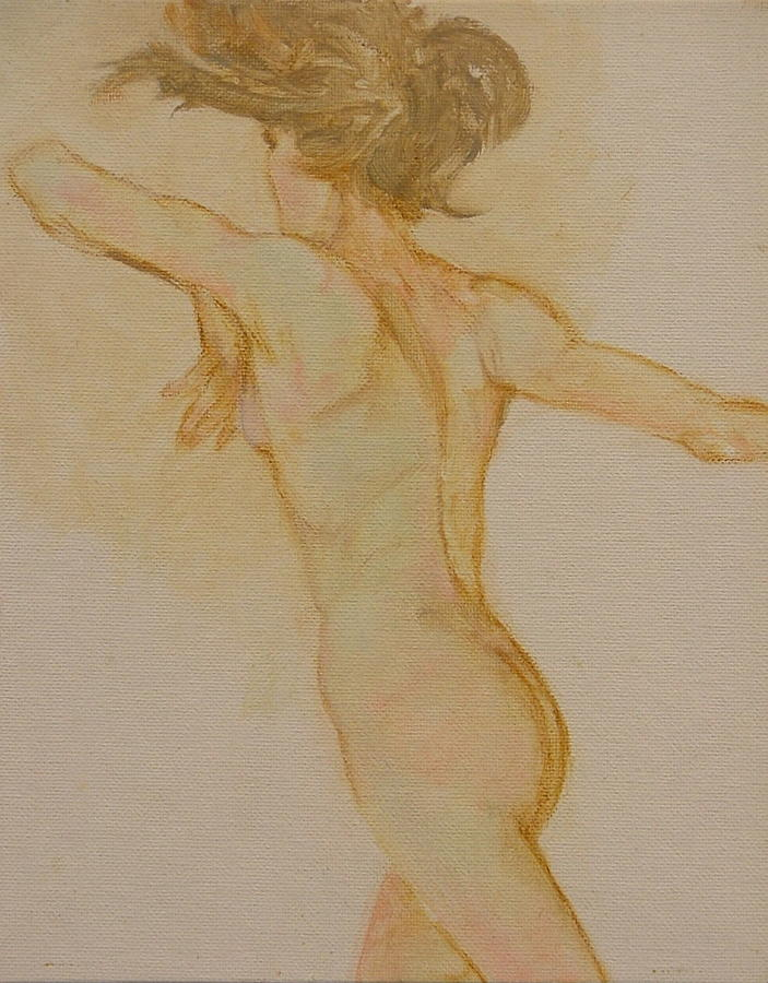 Female Painting - Nude Dancer by Gary Kaemmer