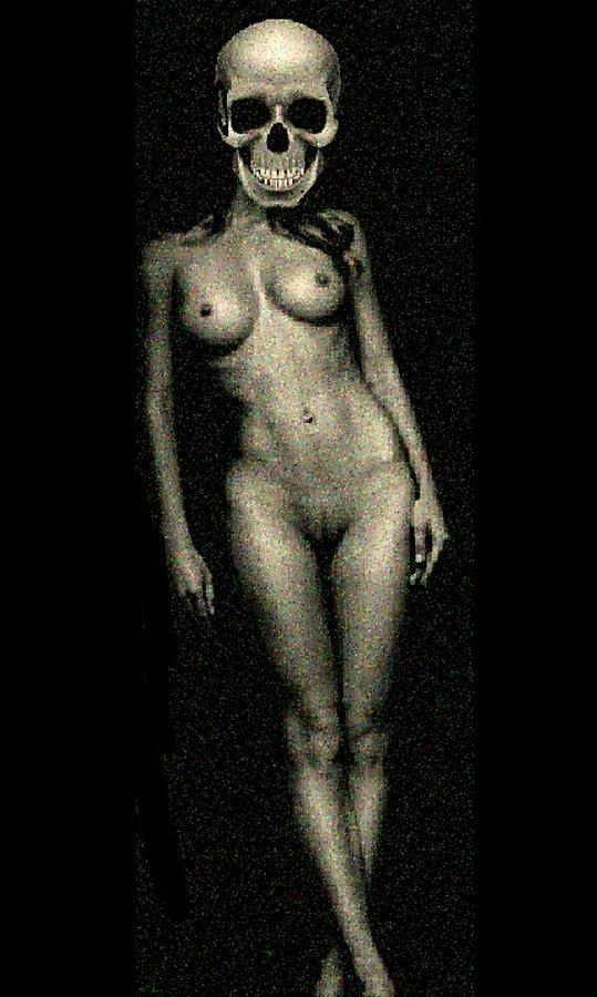 Beautiful Digital Art - Nude Death 8 by Mark Bradley