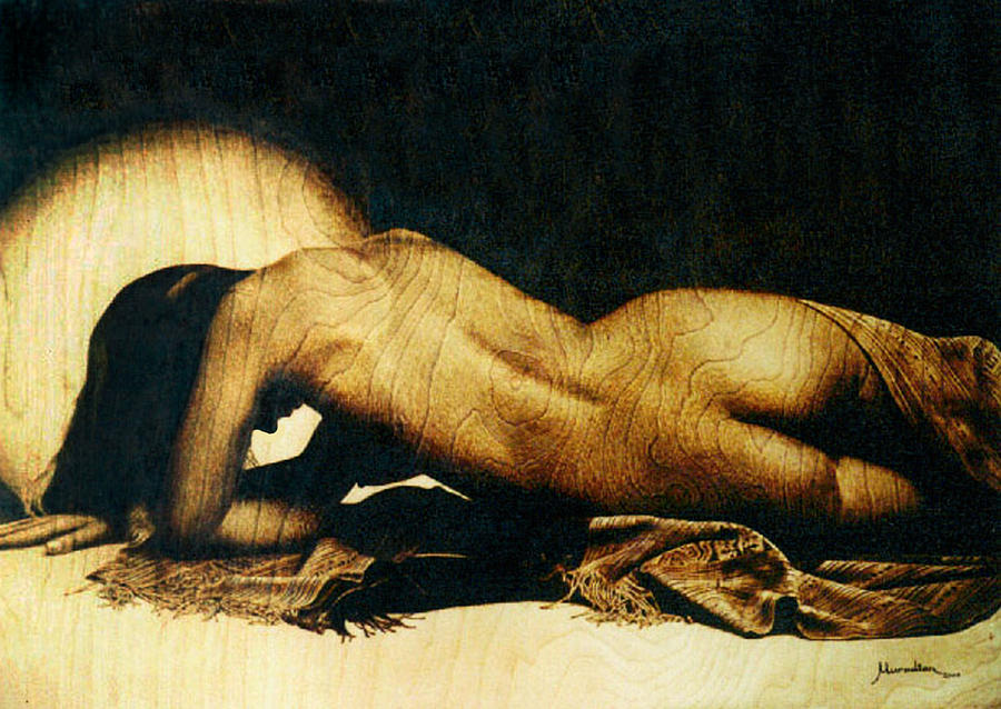 Realistic Pyrography - Nude by Dino Muradian