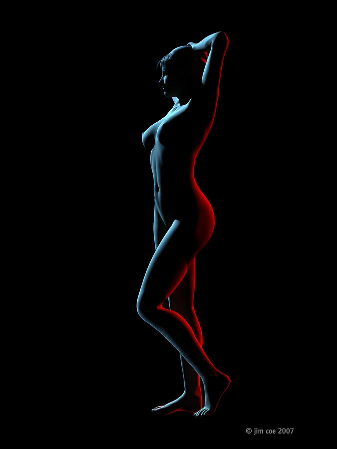 Nude Digital Art - Nude Edge Light 1 by Jim Coe