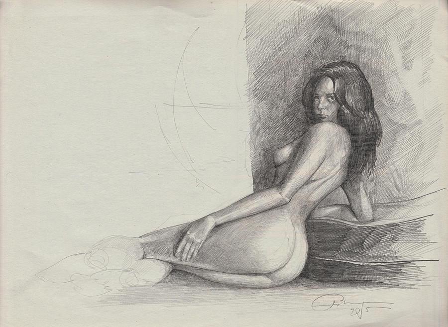 Nude Painting - Nude by Ertan Aktas