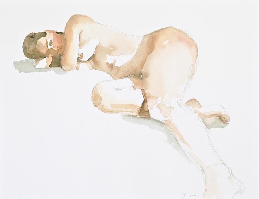 Nude Woman Painting - Nude by Eugenia Picado