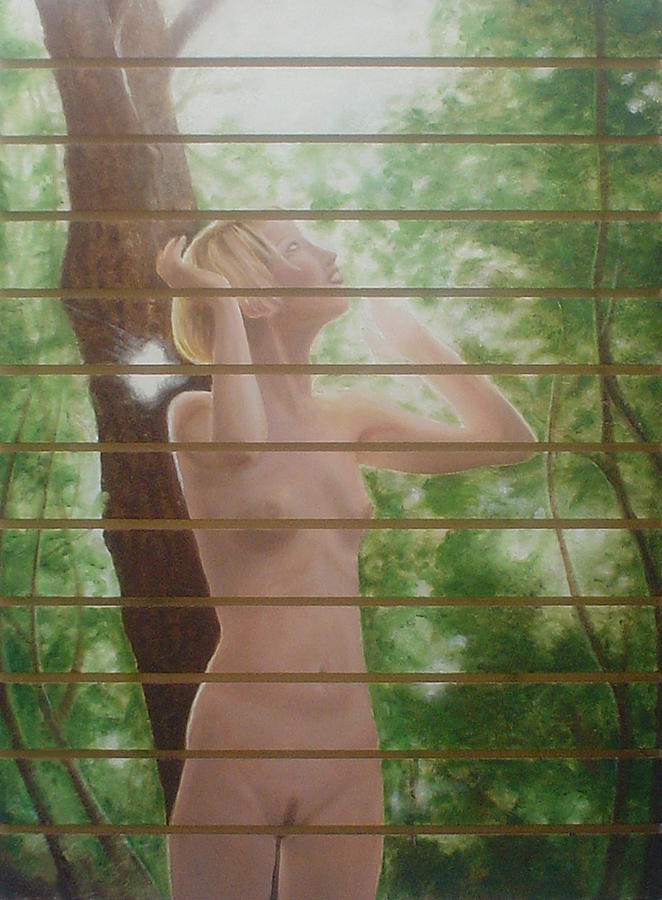 Realistic Painting - Nude Forest by Angel Ortiz