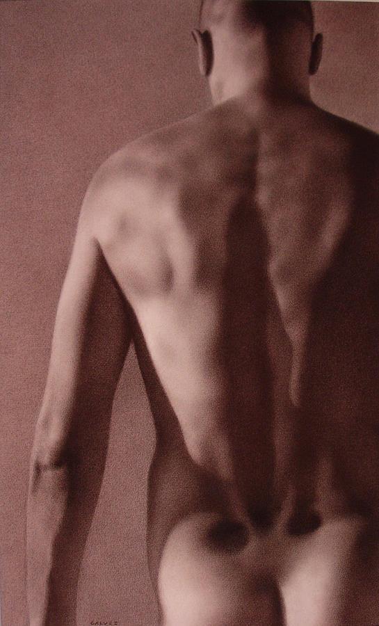 Nude Drawing - Nude by Galvez Miro