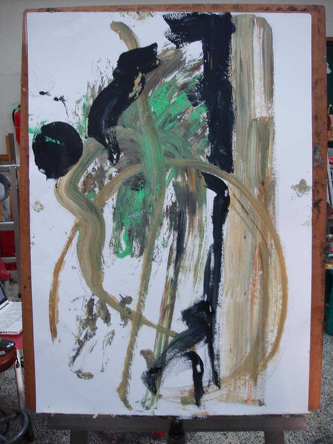 Nude Handpaint Painting by Better Than Medo