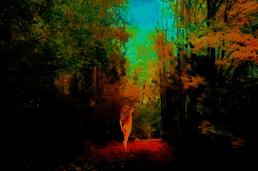 Nude In The Forest Photograph by Jeff Burgess