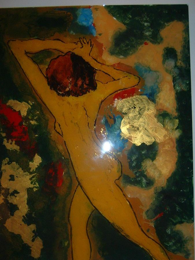 Act Painting - Nude by Maria Vamosi