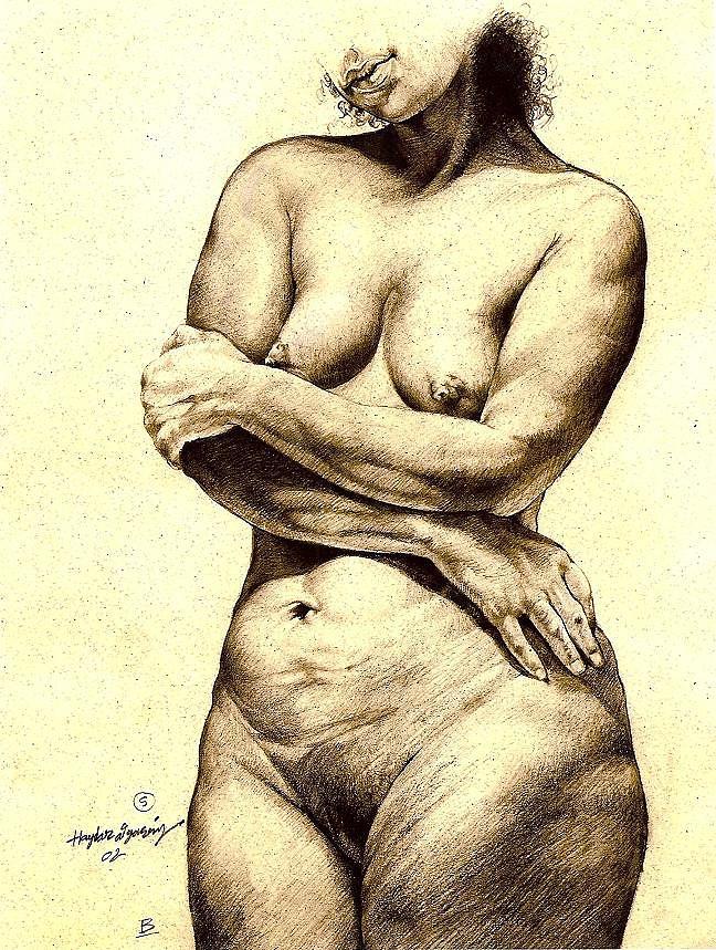 Nude Model2 Drawing by Haydar Al-yasiry