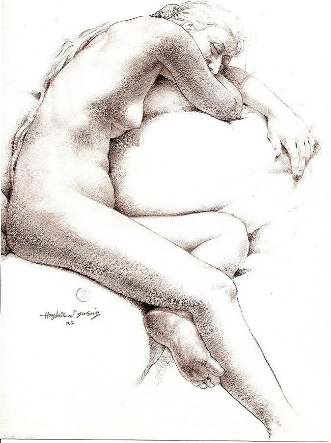 Nude Model3 Drawing by Haydar Al-yasiry