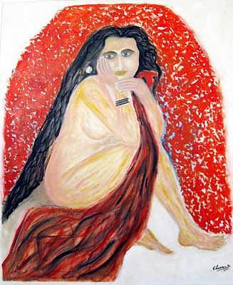 Nude Painting - Nude by Narayanan Ramachandran