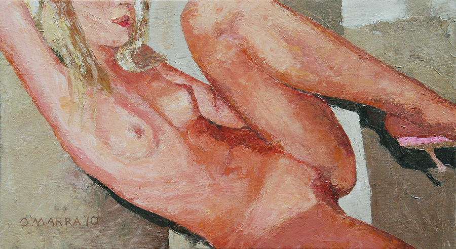 Nude Painting - Nude On The Diagonal by Allan OMarra