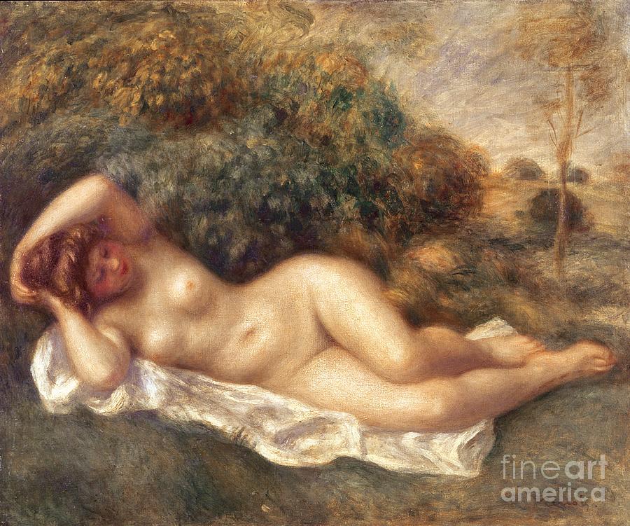 Nude Painting - Nude circa 1887 by Pierre Auguste Renoir