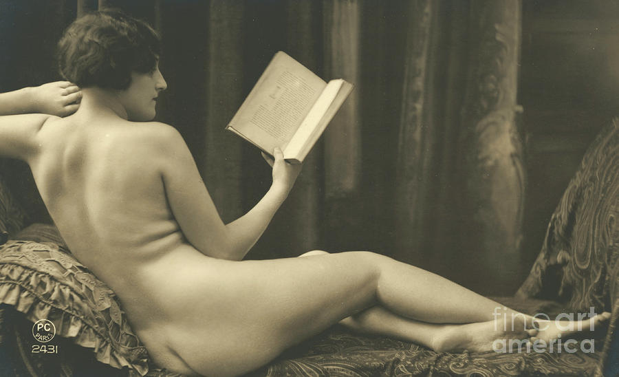 Nude reading a book think