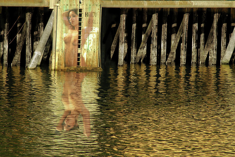 Female Nude Photograph - Nude Reflection by Harry Spitz