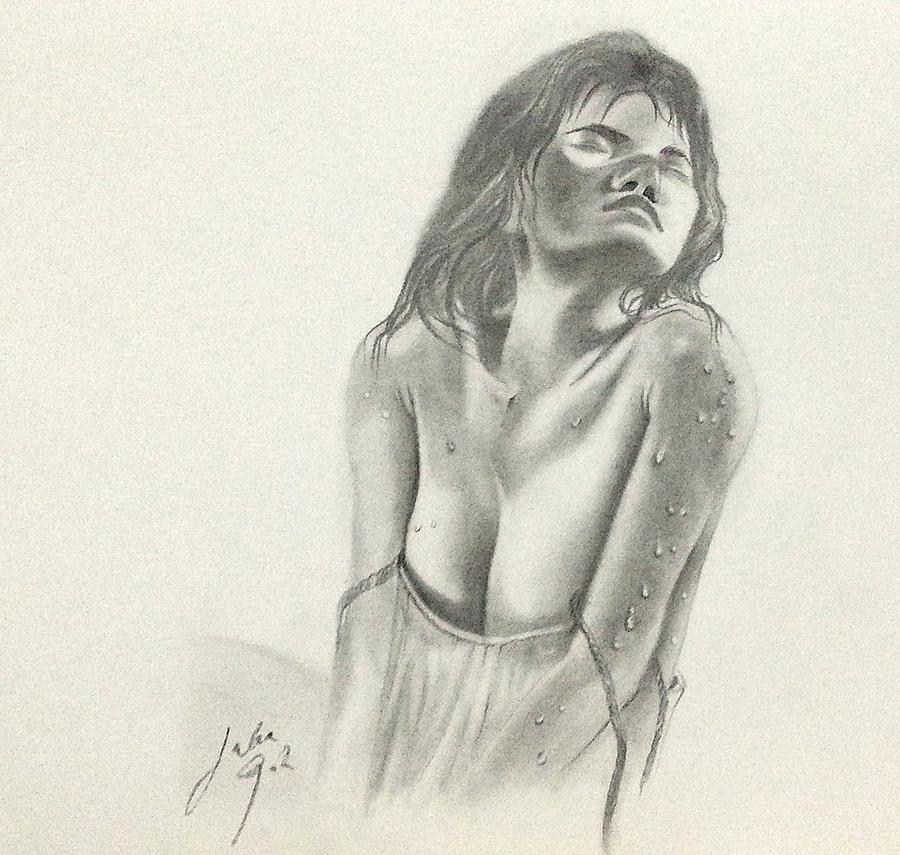 Male nude drawing by marc clamage