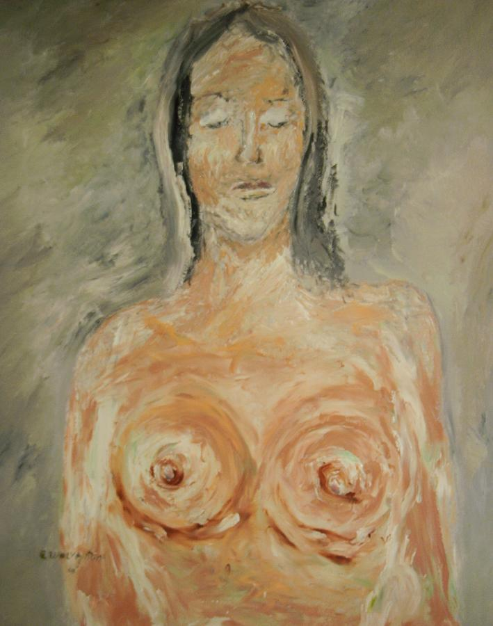 Nude Portrait Painting - Nude Sleeping by Edward Wolverton