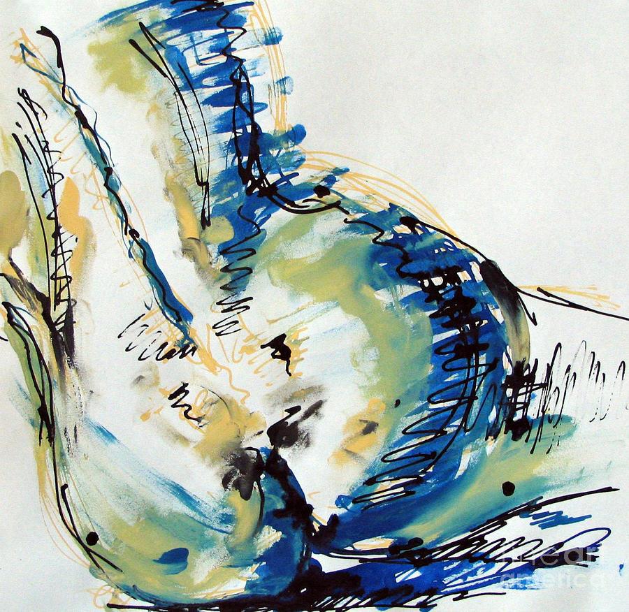 Drawing Painting - Nude Study by Iglika Milcheva-Godfrey