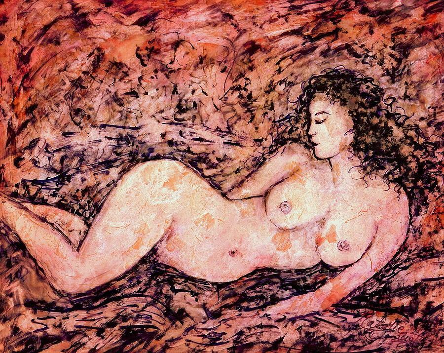 Venus Painting - Nude Venus by Natalie Holland