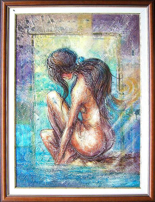 Abstract Painting - nude by Voineagu  Ion