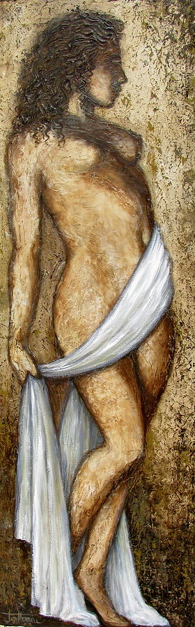 Nude Painting - Nude Woman Standing by Judy Merrell