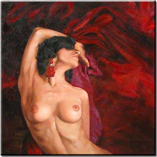 Nude Painting - Nude by Yvonne Yu