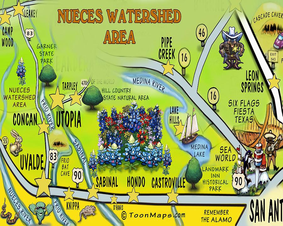 Nueces Watershed Area Digital Art