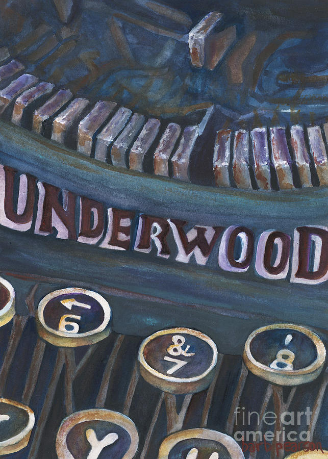 Typewriter Painting - Number 7 by Barb Pearson