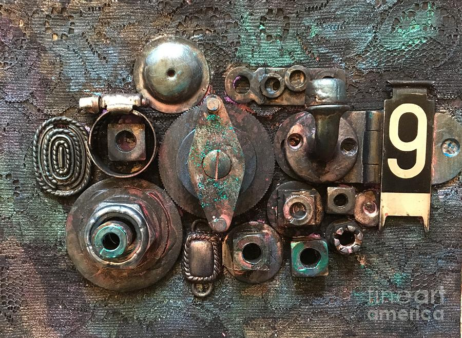 Steampunk Mixed Media - Number 9 by Marcia Hero