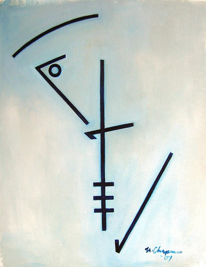 Number Five Blue Monk Painting by Martel Chapman
