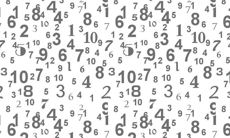Numbers Digital Art - Numbers by Maye Loeser