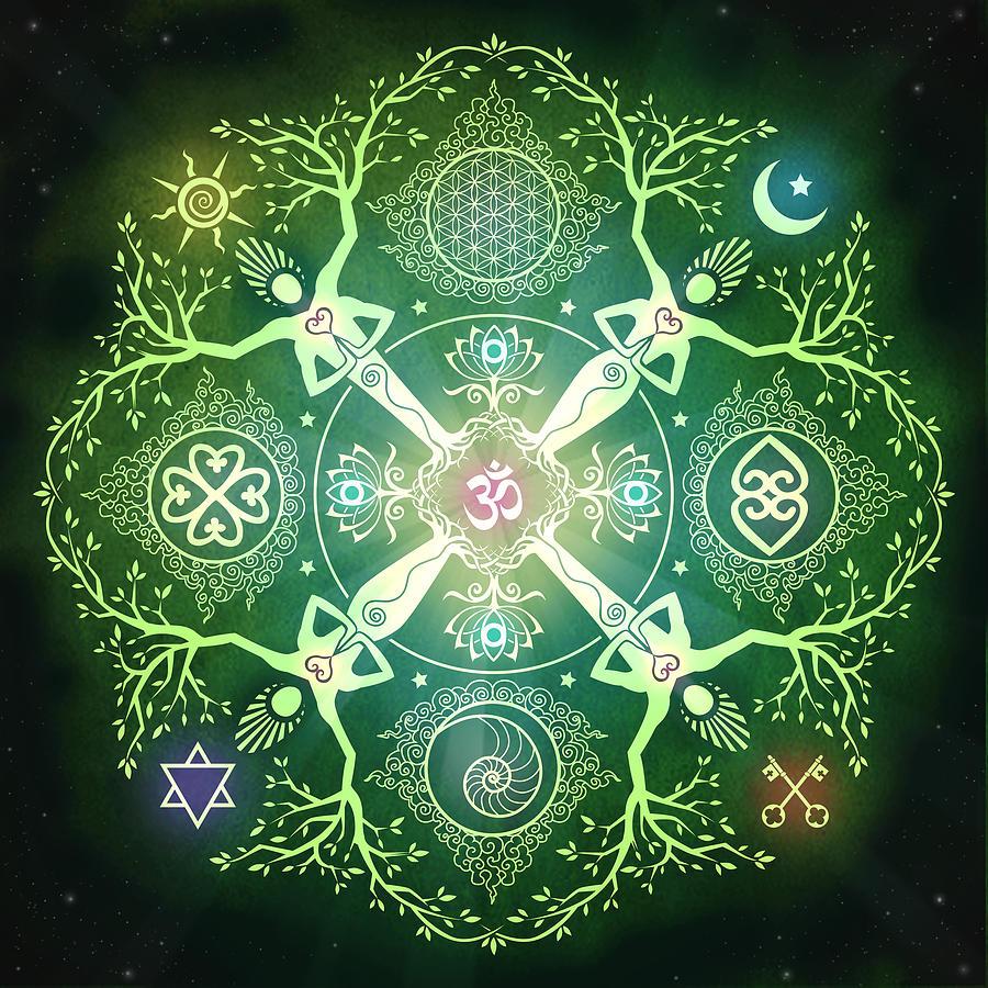 Mandala Digital Art - Numinosity Mandala by Cristina McAllister