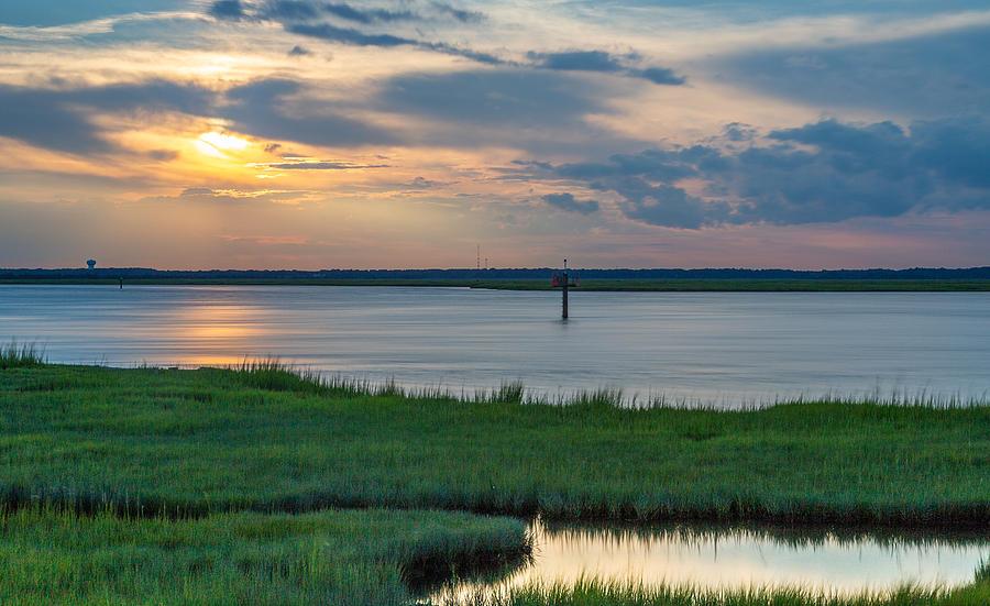 Nummy Island Sunset by Charles Aitken