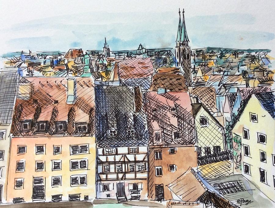 Nuremberg Painting - Nuremberg Views by Emily Page
