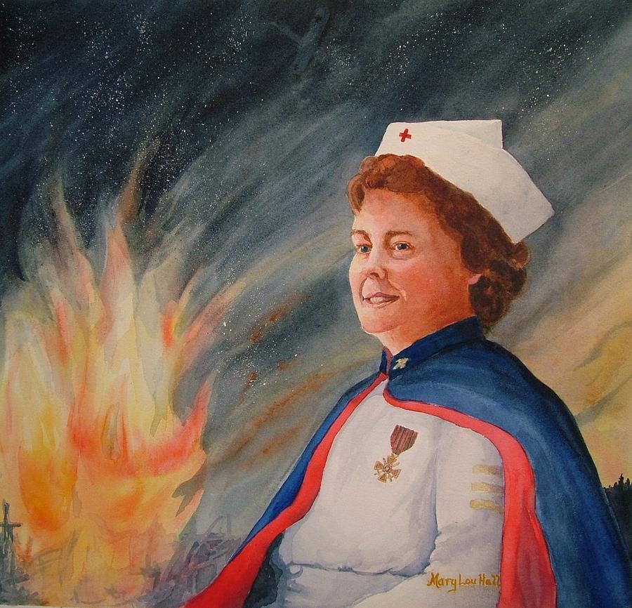 Nurse Painting - Nurse Arvin by Mary Lou Hall