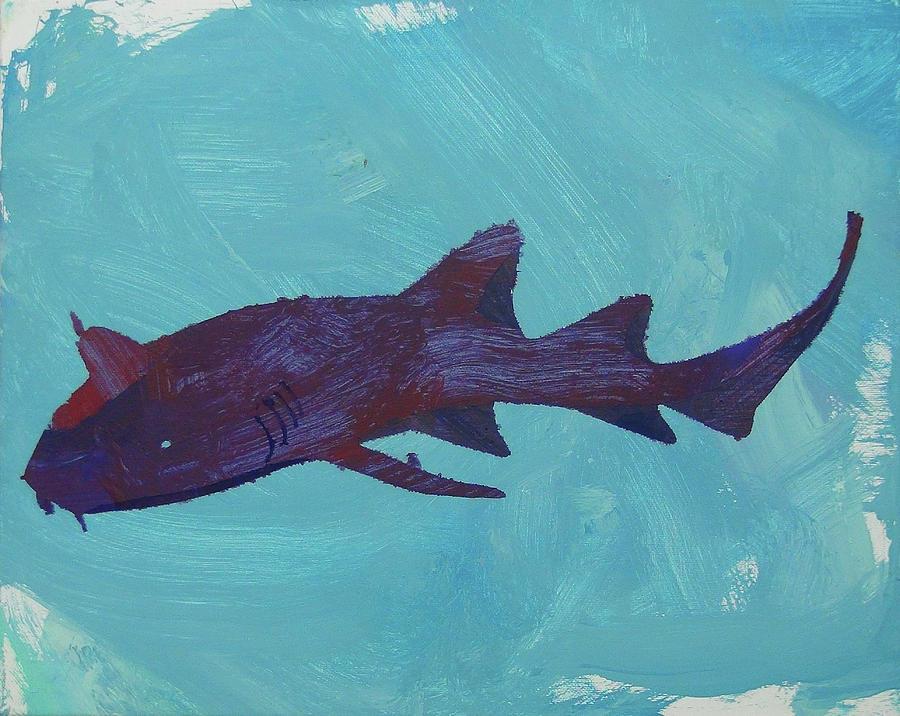 Nurse Shark Painting - Nurse Shark by Candace Shrope