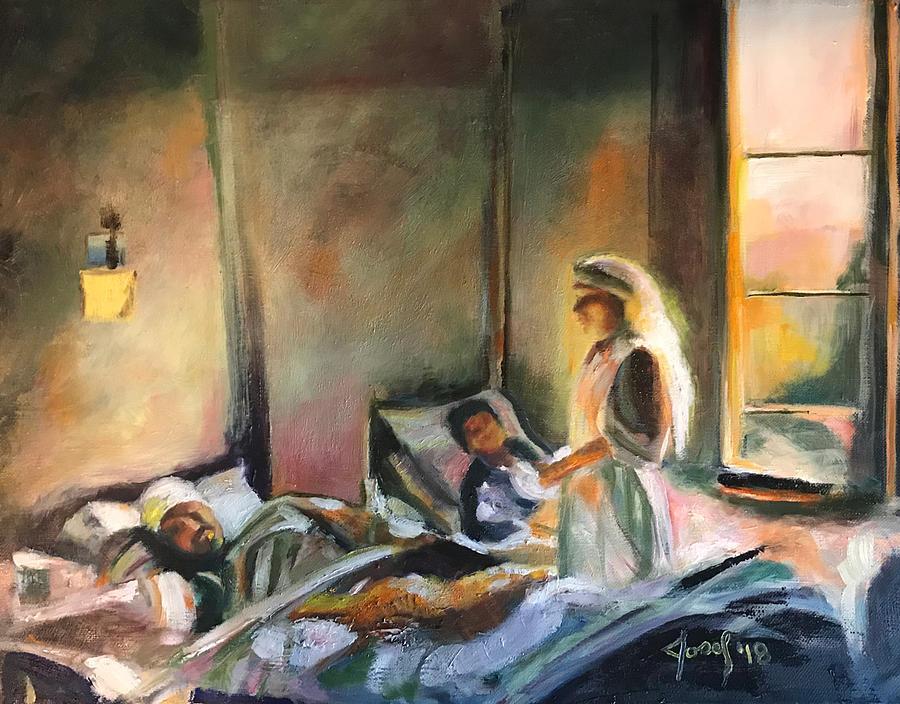 Nurses Painting - Nurses Are Heroes To Heroes by the Artist Josef