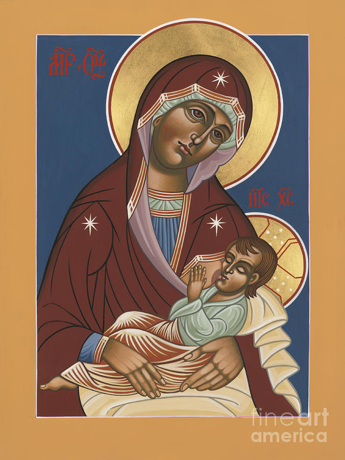 Nursing Icon Of The Mother Of God 174 Painting by William Hart McNichols