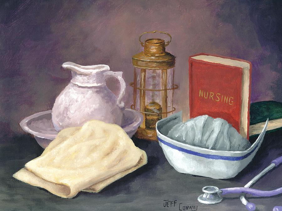 Nurse Painting - Nursing by Jeff Conway