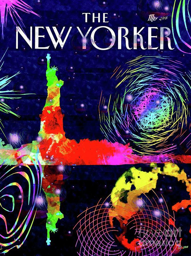 Ny City Bubbles Mixed Media