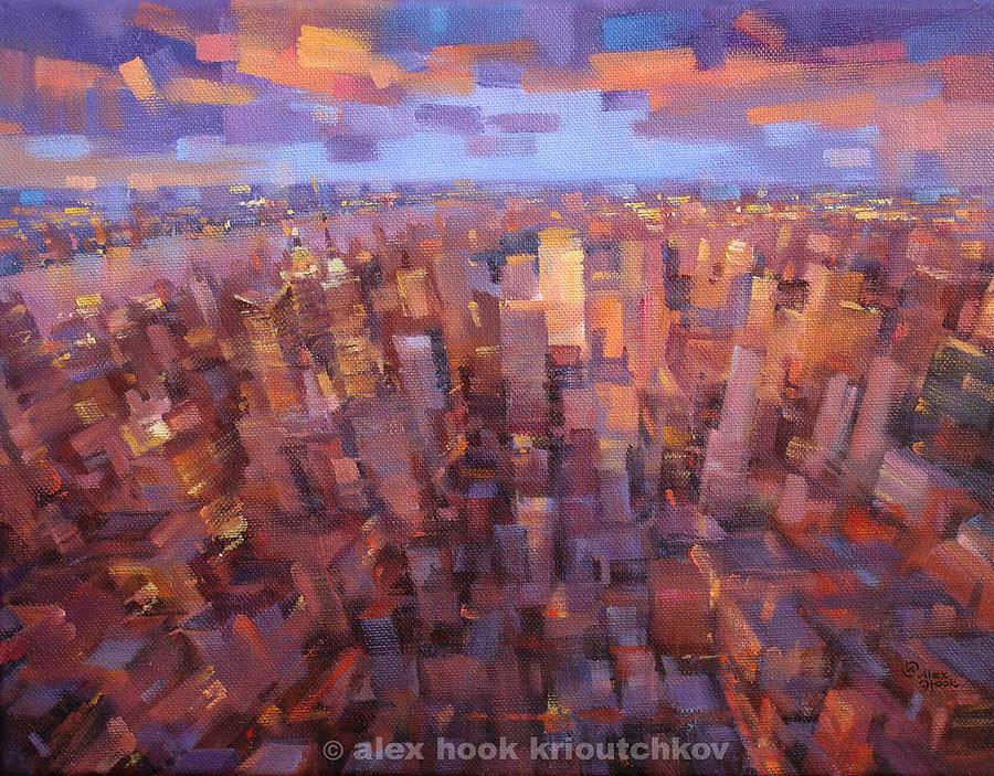 Capitals Painting - Ny-ny by Alex Hook Krioutchkov
