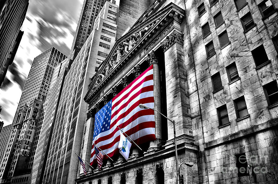 Sky Photograph - Ny Stock Exchange by Alessandro Giorgi Art Photography