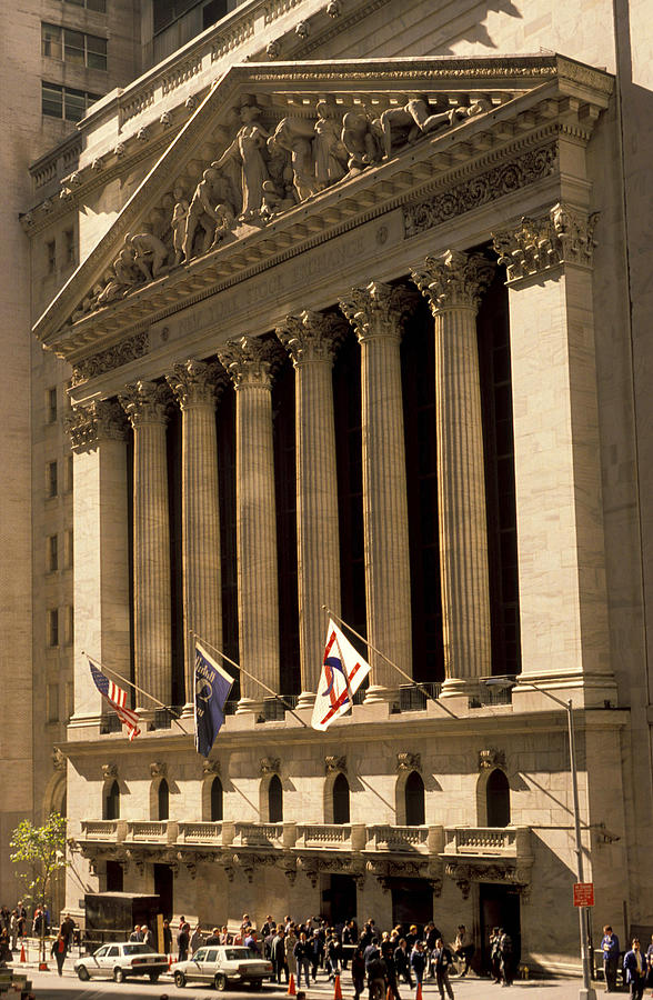 Wall St. Photograph - Ny Stock Exchange by Gerard Fritz