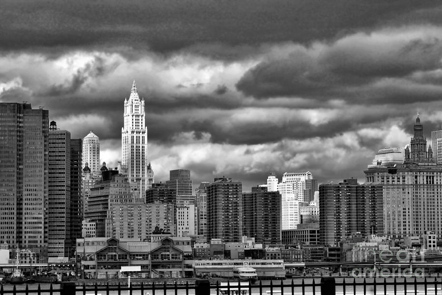 Nyc Photograph - Nyc Blk N Wht  by Chuck Kuhn