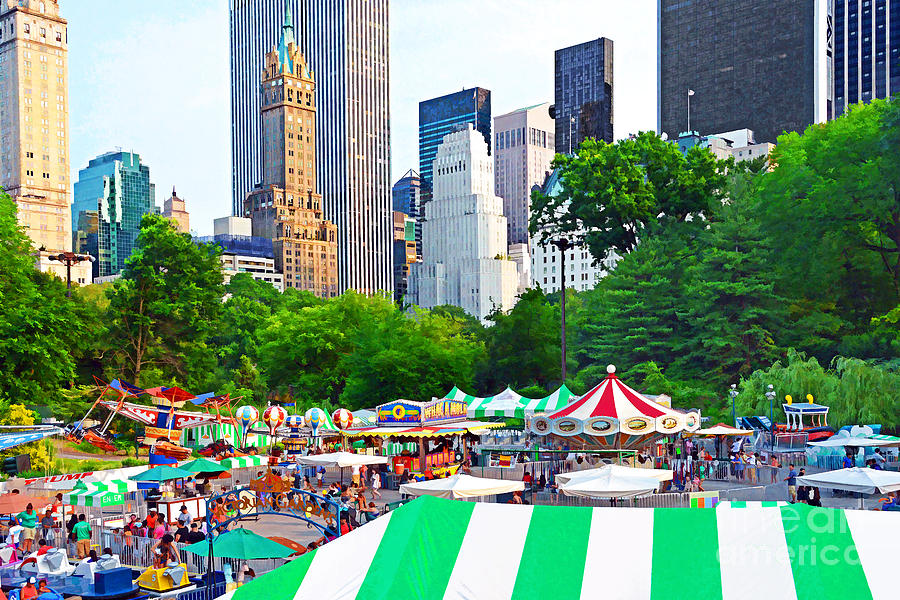 New York City Photograph   Nyc Central Park Victorian Gardens By Regina  Geoghan