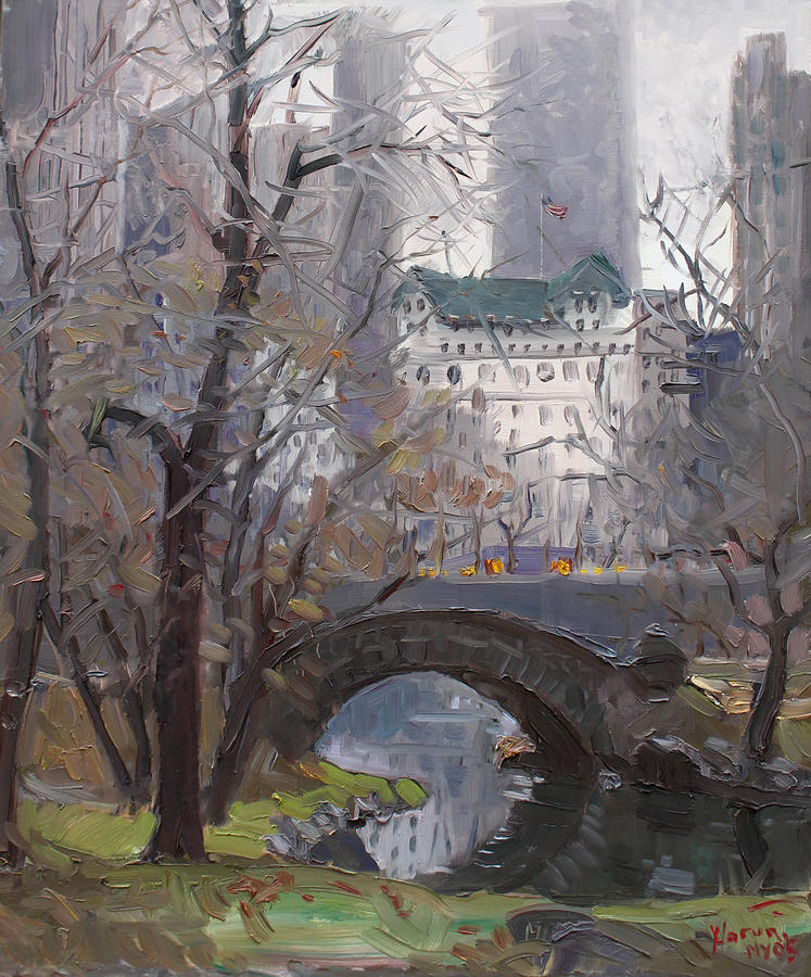 New York City Painting - Nyc Central Park by Ylli Haruni