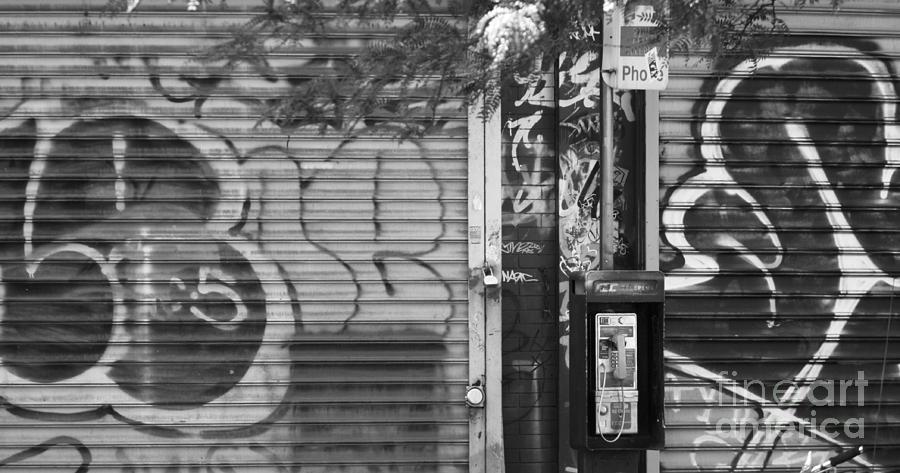 Graffiti Photograph - Nyc Graffiti Blk N Wht by Chuck Kuhn